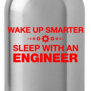 wake up smarter sleep with an engineer t shirt - Water Bottle