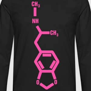 MDMA Molecule T-Shirts - Men's Premium Long Sleeve T-Shirt