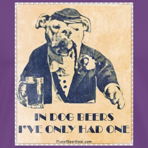 Vintage In Dog Years I've Only Had One Women's Hoo - Men's Premium T-Shirt