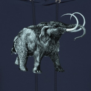 The mammoth, Primal elephants from the past. T-Shirts - Men's Hoodie