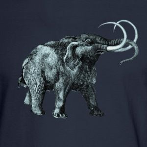 The mammoth, Primal elephants from the past. T-Shirts - Men's Long Sleeve T-Shirt
