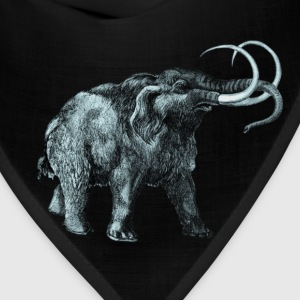 The mammoth, Primal elephants from the past. T-Shirts - Bandana