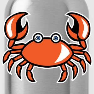 funny cartoon crab - Water Bottle