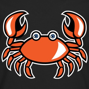 funny cartoon crab - Men's Premium Long Sleeve T-Shirt