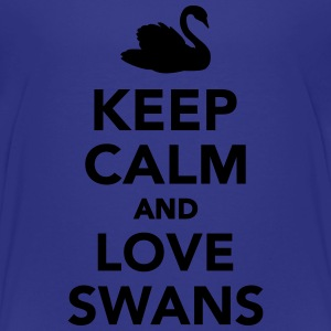 Keep calm and love swans Kids' Shirts - Toddler Premium T-Shirt