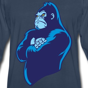 blue cartoon gorilla - Men's Premium Long Sleeve T-Shirt