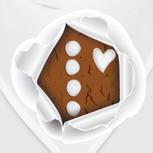 Peek-a-Boo Gingerbread Man - Bandana