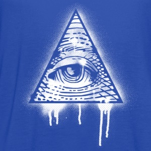 Illuminati Eye Graffiti T-Shirts - Women's Flowy Tank Top by Bella