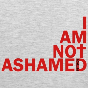 i am not ashamed red Long Sleeve Shirts - Men's Premium Tank