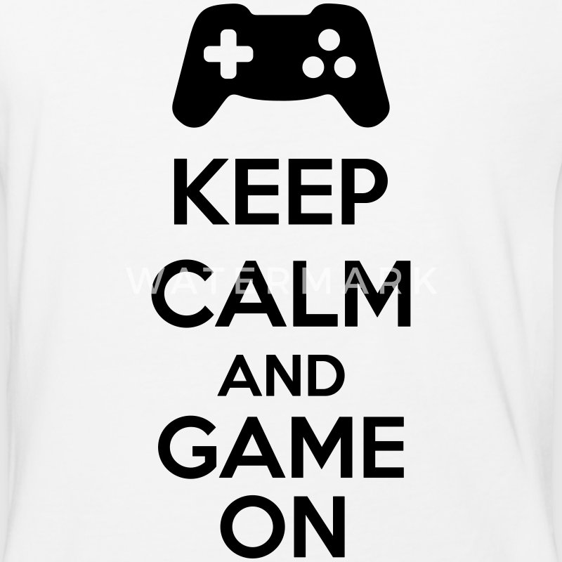 Keep Calm And Game On T-Shirts - Baseball T-Shirt