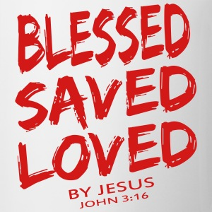 BLESSED SAVED LOVED - Coffee/Tea Mug