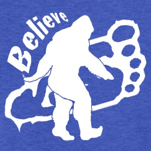 Bigfoot Believe  - Fitted Cotton/Poly T-Shirt by Next Level