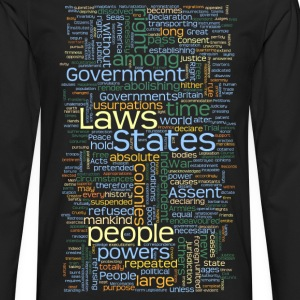 Declaration of Independence Tag Cloud - Men's Premium Long Sleeve T-Shirt