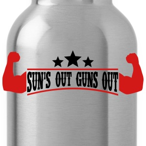 Sun's out Guns out Tank Tops - Water Bottle