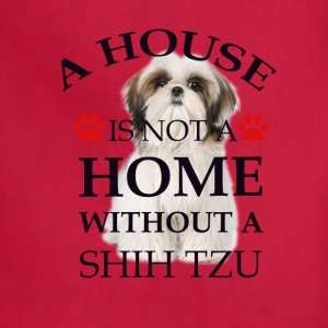 i house is  not a home without a shih tzu Women's T-Shirts - Adjustable Apron