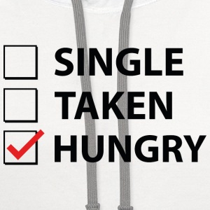 Single Taken Hungry - Contrast Hoodie