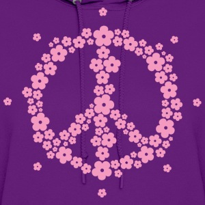 Flower Hippie Peace 60's Sign Psychedelic Symbol T - Women's Hoodie