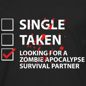 Single Taken Survival Partner - Men's Premium Long Sleeve T-Shirt