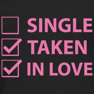 Single Taken In Love - Men's Premium Long Sleeve T-Shirt