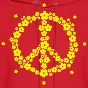 Flower Hippie Peace 60's Sign Psychedelic Symbol T - Men's Hoodie