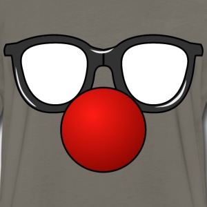 Clown Nose with Glasses - Men's Premium Long Sleeve T-Shirt