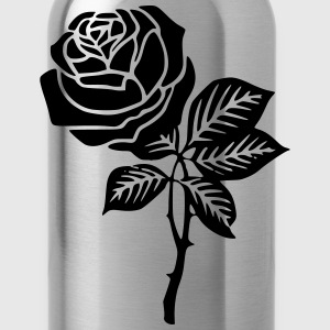 Black Rose Shirt - Water Bottle