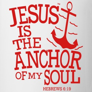 JESUS IS THE ANCHOR OF MY SOUL Women's T-Shirts - Coffee/Tea Mug