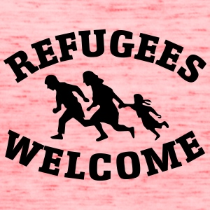 Refugees Welcome - Women's Flowy Tank Top by Bella
