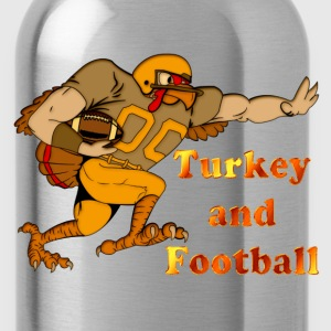 Turkey Football color T-Shirts - Water Bottle
