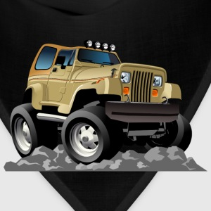 funny jeep on the ground - Bandana