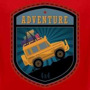 Jeep Adventures emblem - Men's Premium Tank