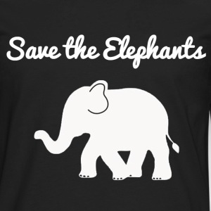 Save the elephants hoodie - Men's Premium Long Sleeve T-Shirt