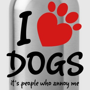 I Love Dogs It's People Who Annoy Me Women's T-Shirts - Water Bottle