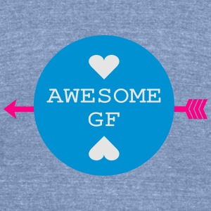 AWESOME GIRLFRIEND Womens Wideneck Sweatshirt - Unisex Tri-Blend T-Shirt by American Apparel