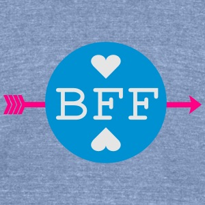 BFF BEST FRIENDS FOREVER TEXT Womens Wideneck Swea - Unisex Tri-Blend T-Shirt by American Apparel