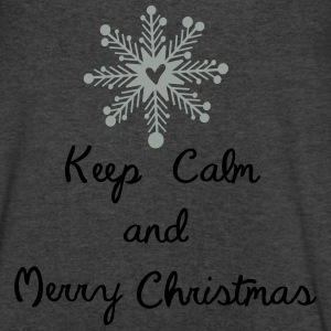 Keep calm and merry christmas Womens Wideneck Swea - Men's V-Neck T-Shirt by Canvas