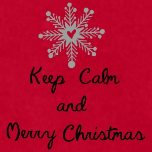 keep calm and merry x-mas Full Color Mug - Men's T-Shirt by American Apparel