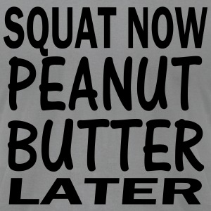 Squat and Peanut butter Long Sleeve Shirts - Men's T-Shirt by American Apparel