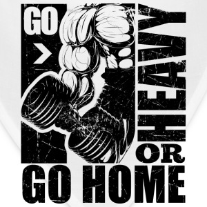 Go Heavy Gym Quotes - Bandana