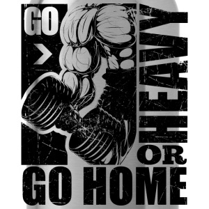 Go Heavy Gym Quotes - Water Bottle
