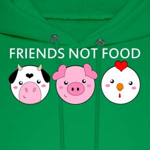 Animals Are Friends Not Food - Men's Hoodie