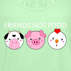Animals Are Friends Not Food - Women's Flowy Tank Top by Bella