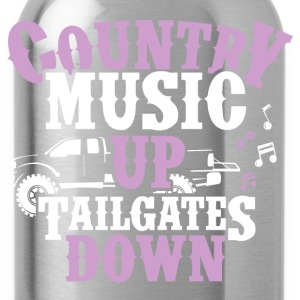 Country Up, Tailgates Down - Water Bottle