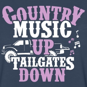 Country Up, Tailgates Down - Men's Premium Long Sleeve T-Shirt