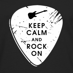 Keep calm and rock on Hoodies - Men's Premium Long Sleeve T-Shirt