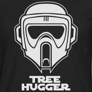Star Wars inspired Biker Scout Trooper Tree Hugger - Men's Premium Long Sleeve T-Shirt