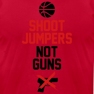 Shoot Jumpers Not Guns Shirt Hoodies - Men's T-Shirt by American Apparel