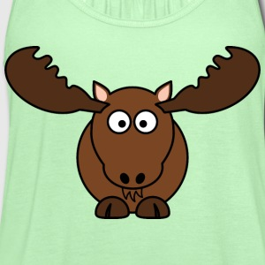 Moose - Women's Flowy Tank Top by Bella