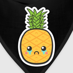 cute but sad pineapple T-Shirts - Bandana