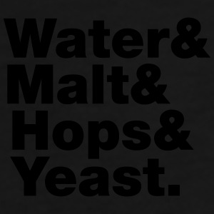 Beer | Water & Malt & Hops & Yeast. Mug - Men's Premium T-Shirt